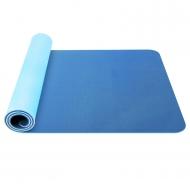 Gimnastikos/jogos kilimėlis TPE dvipusis KP-189 Mėlynas/žydras