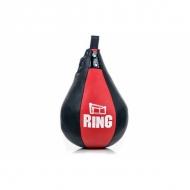 Dirbtinės odos bokso kriaušė Ring Sport juoda/raudona 2kg Small