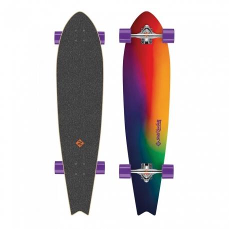 Riedlentė Street Surfing Fishtail - Sunset Blur 42 Longboard