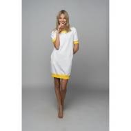 Sofa Killer balta taškuota suknelė su geltonais rankogaliais