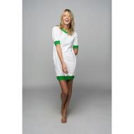 Sofa Killer balta taškuota suknelė su žaliais rankogaliais