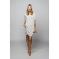 Sofa Killer draskyto audinio pilka suknelė