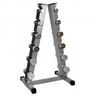 Vertikalus hantelių stovas su didesniu atsparumu įbrėžimams ir dėvėjimuisi inSPORTline RK2067