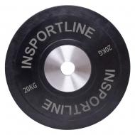 Olimpinis svoris tinkamas metimui 50mm inSPORTline BumperPlate 20kg