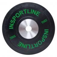 Olimpinis svoris tinkamas metimui 50mm inSPORTline BumperPlate 25kg