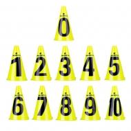 Plastikiniai treniruočių žymekliai inSPORTline Numeric 23cm (11vnt.)