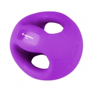 Medicininis kamuolys su rankenomis inSPORTline GrabMe 3kg