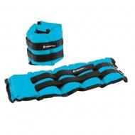 Reguliuojami rankų ir kojų svoriai inSPORTline BlueWeight 2x2kg