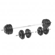 Keičiamo svorio hantelių ir štangos rinkinys inSPORTline BS208 3-50kg