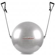Gimnastikos kamuolys su rankenėlėmis 55cm (pilkas)