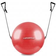 Gimnastikos kamuolys su rankenėlėmis 55cm (raudonas)