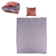 Masažinė pagalvėlė ir antklodė inSPORTline Trawel Brown