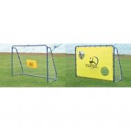 Mobilūs futbolo vartai su atmušimo sienelė Spartan 213x152x76cm