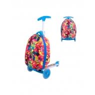 Vaikiškas paspirtukas su lagaminu Worker Lagy Blue